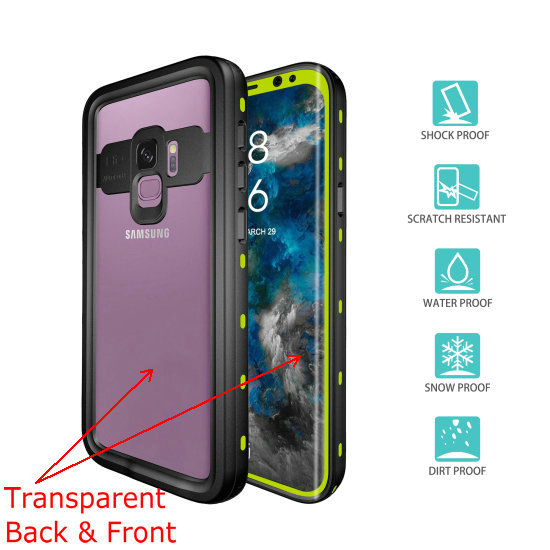 samsung s9 waterproof case (4)green__