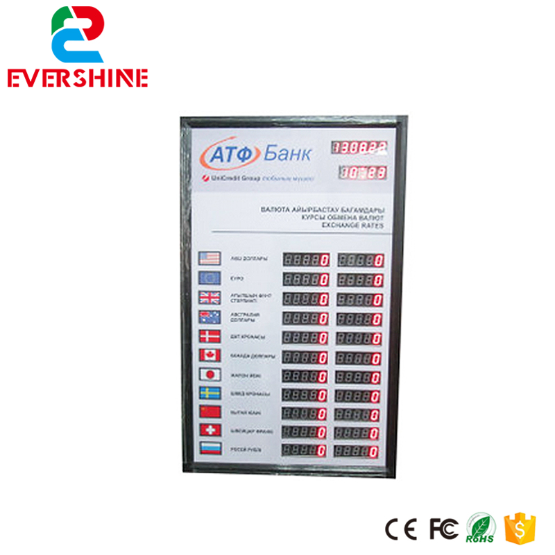 Led  Display 1 Sign Red Digit Number board Indoor LED Exchange Rate Board Language for Kazakhstan 100 pcs ld 3361ag 3 digit 0 36 green 7 segment led display common cathode