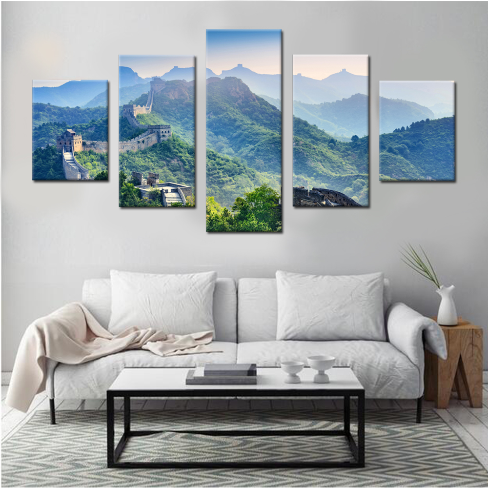 Copy of the Great Wall Canvas Set Wall Decor Living Room Pictures ...