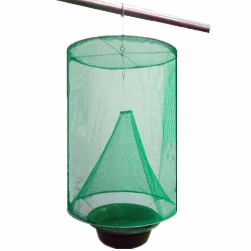 Image 3 - Health 1PCS Reusable Hanging Fly Catcher Killer Pest Control Flies Flytrap Zapper Cage Net Trap Garden Home Yard Supplies-in Traps from Home & Garden