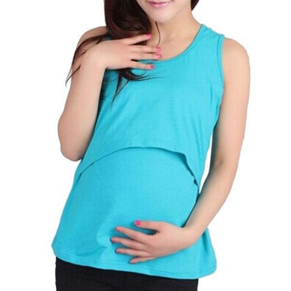 Summer Mummy Maternity Breastfeeding Cross Nursing Modal Soft Vest Top 10 Colors