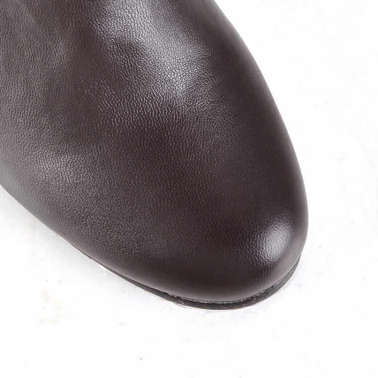 2017จำกัดรองเท้าฤดูหนาวBotas Mujerแฟชั่นอัศวินสีดำ,สีขาว,หญิงLeisureมาร์ตินฤดูหนาวที่อบอุ่นยาวรองเท้าผู้หญิง612