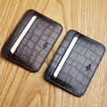 LANSPACE genuine leather card holder  casual crocodile card id holders
