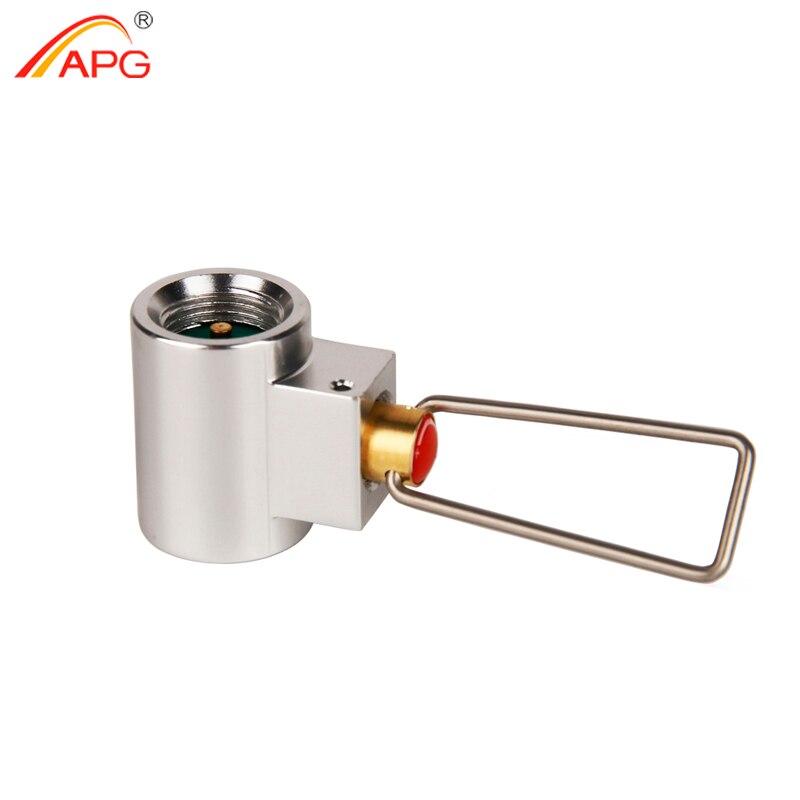 APG Conversione Adattatore Stufa A Gas Da Campeggio Adattatore Valvola Bombola Gas Convertitore Shifter Refill