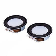 2pcs/set 4Ohm 3W 40mm Loudspeaker Woofer Audio Portable Speaker Full Range Speaker Magnetic DIY Stereo Box Accessories Wholesa