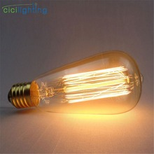 110V 220V 240V E27 40W Edison Bulb ST64 vintage retro carbon bulb incandescent tungsten filament bulb