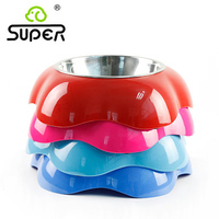 Super Petals Melamine Pet Bowls Stainless Steel Dog Bowl Basin The Dog Cat Food Bowl Of