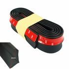 CNSPEED Rubber Soft Black bumper Strip Car 60mm Width 2.5m length Exterior Front Bumper Lip Kit / Car bumper Strip