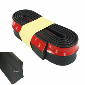 Rubber Soft Black bumper Strip Car 60mm Width 2.5m length Exterior Front Bumper Lip Kit / Car bumper Strip