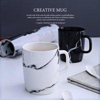 350ml Marble Grain Mug Drinkware Water Bottle Ceramic Cups Kitchen Dinnerware Coffee Mug Tea Cup