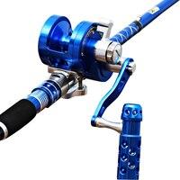 Hu Ying Full Metal Jigging Reel Single Speeds Trolling Fishing Reel 30kgs Power Drag Deep Sea Saltwater Boat Reel 4.5:1
