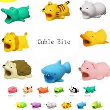 1 Pc Cable Bite Cat Dog Animal Cable Bite Protectors Gags Practical Jokes for IPhone Winder Phone Accessory Organizer Prank Toy
