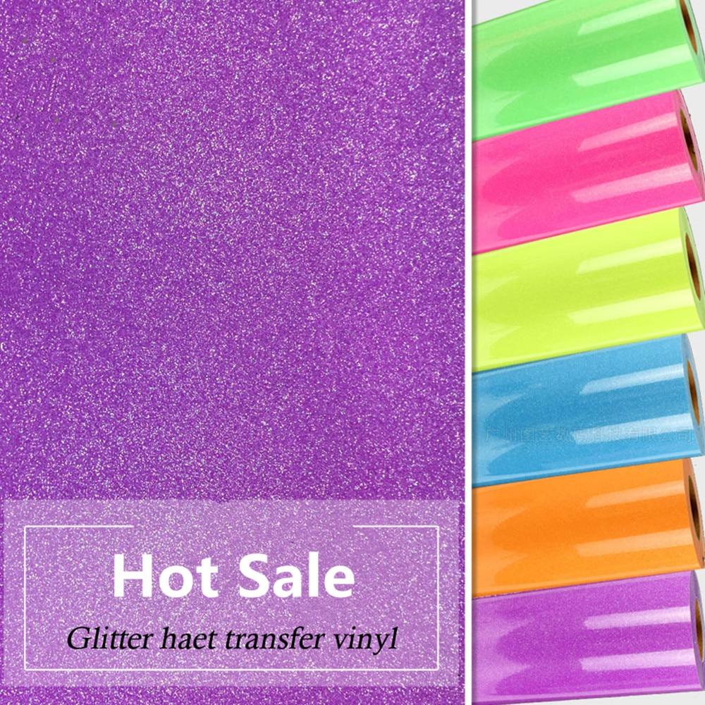 20 wide Heat Transfer Glitter Vinyl; Hologram Vinyl Heat Transfer; PU Transfer Cutting Film for T shirt 50cm x 25m
