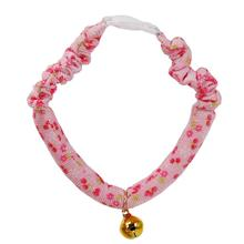 Stylish And Comfortable Adjustable Dog Cat Collar Printing Tie Necklace With Bell Cat Puppy Kitten Pet Cat Accessories