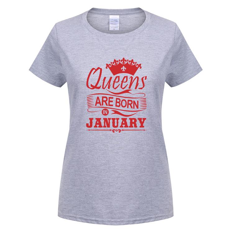 Verano nueva reinas nacen en enero camiseta mujer chica algodón ... 90db137cfece8