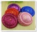 """5.2 """"(13 cm) 5 Cores Miini Top Brilhante Base de Fascinator Cabelo DIY Glitter Headwear Chapéu Do Partido Do Miúdo Acessórios Para o Cabelo DIY 12 pçs/lote"""