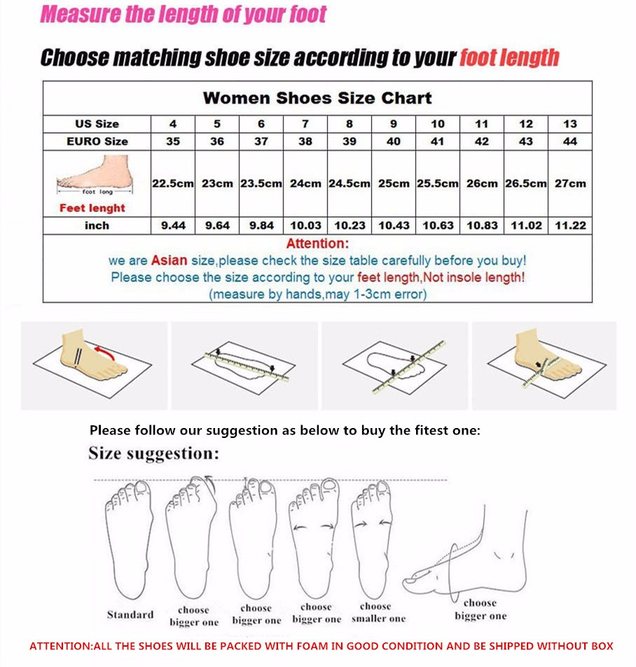 shoes size table