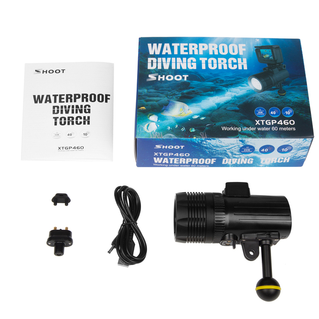 GoPro Light LED 1000LM Waterproof 196ft/60m With 3 Modes