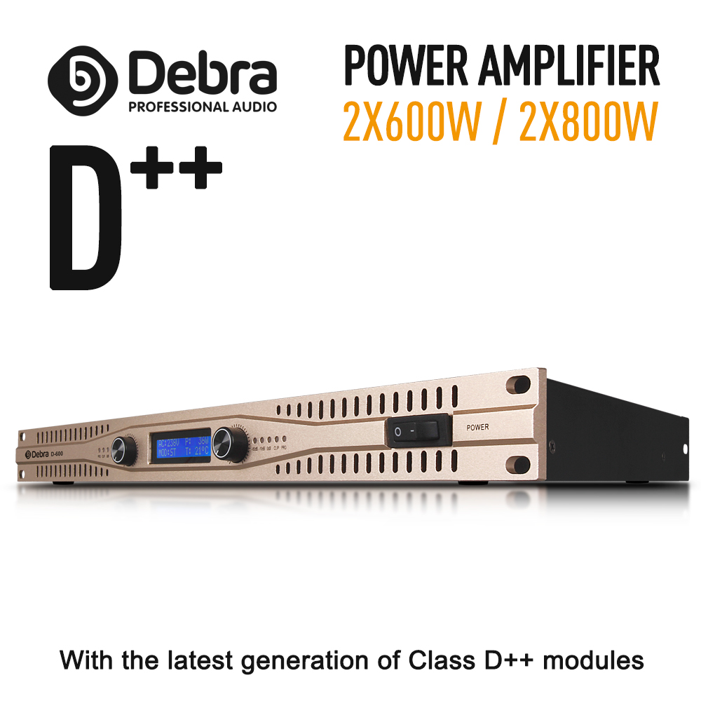 Real power Class D module Professional stage power amplifier High power amplifier 2x600W 2X800W