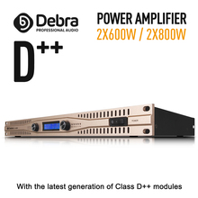 Real power!!Class D++ module Professional stage power amplifier High 2x600W/2X800W