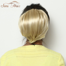 Suri Hair Straight Clip In Ponytail Blonde Synthetic Hair Extension Hairpieces For Women Heat Resistant Fiber