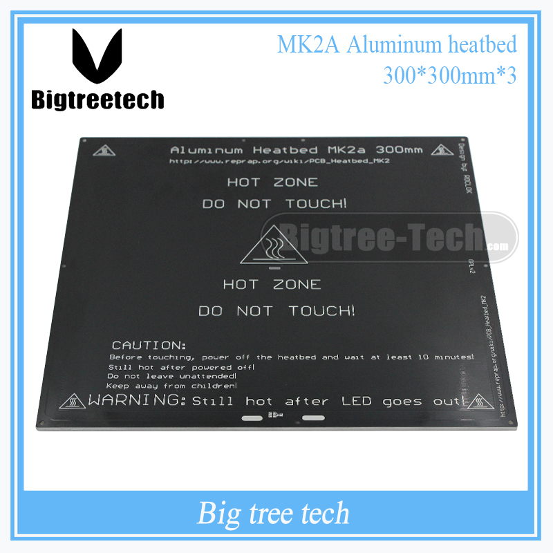 2016 MK2A 300*300*3.0mm RepRap RAMPS 1.4 PCB Aluminum Heatbed  Hot Plate For Mendel For 3D Printer MK2B цена