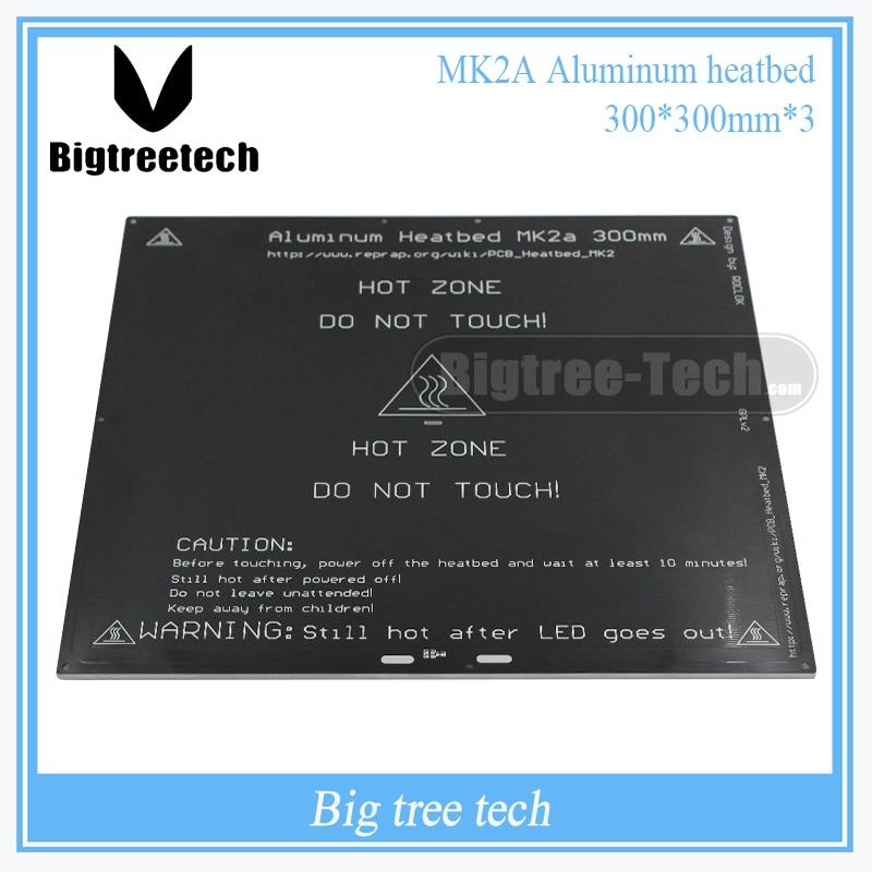 2016 MK2A 300*300*3.0mm RepRap RAMPS 1.4 PCB Aluminum Heatbed  Hot Plate For Mendel For 3D Printer MK2B 2 in 1 pcb board reprap mendel pcb heated bed mk2b for mendel 3d printer hot bed 150 230mm 12v heatbed