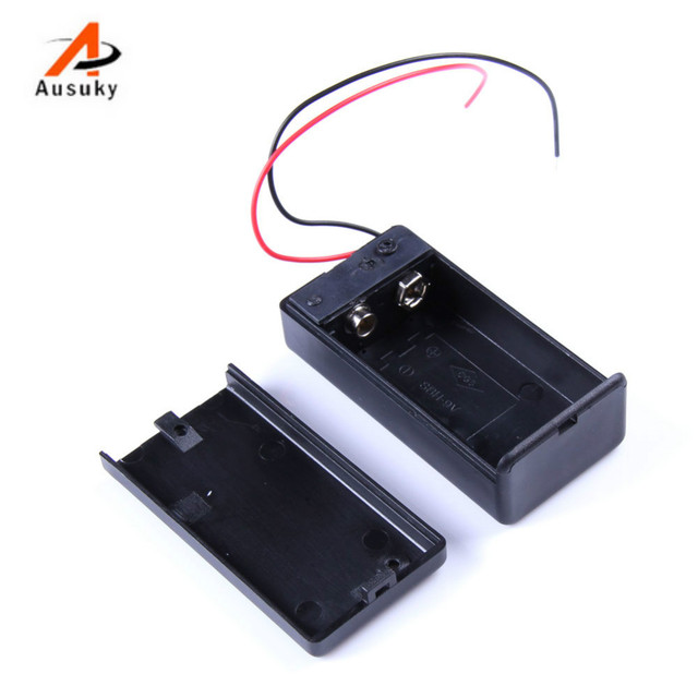 A Ausuky Hot Sale 5PCS 9V Battery Holder Box Case with Wire Lead ON ...