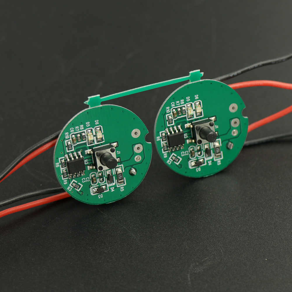 29mm Bicycle Light headlight Driver Integrated circuit board for 3 LED T6 U2 Xpl max 5A current(PACK OF 2PCS)