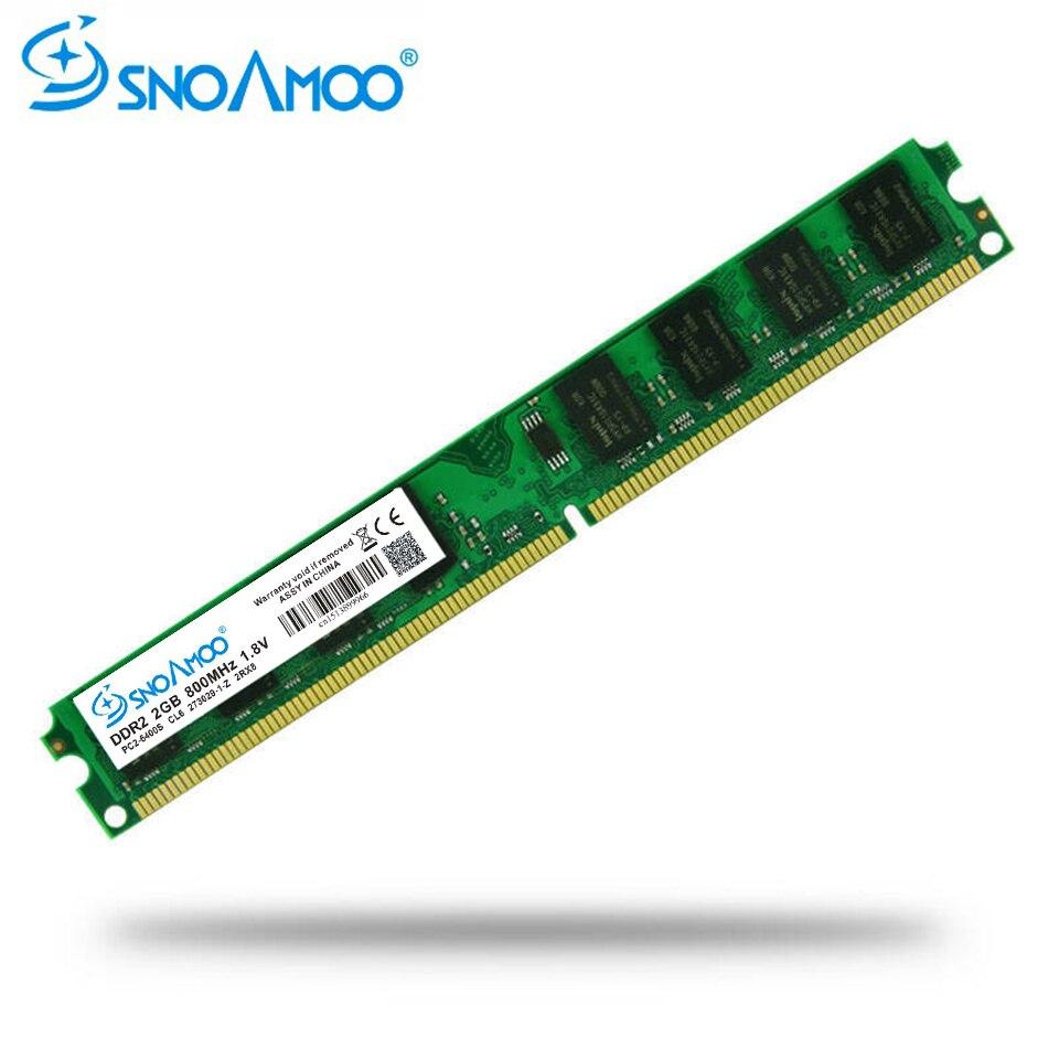 SNOAMOO PC de escritorio utilizado DDR2 2 GB Ram 800 MHz 667 MHz PC2-5300U CL5 240Pin 1,8 V memoria para Intel AMD memoria de la computadora Compatible