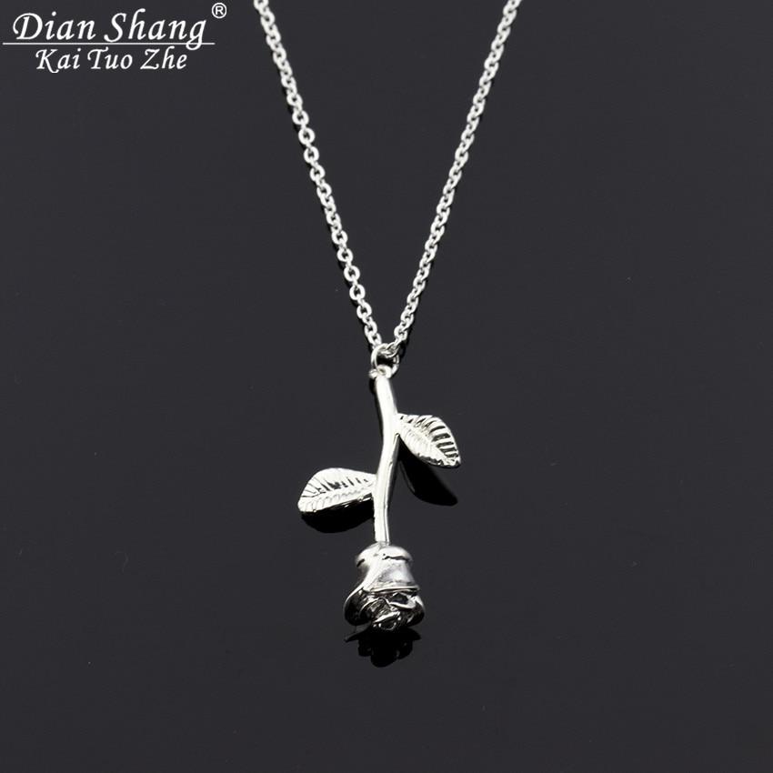 Charm Rose Flower Pendant Necklace Damesmode Boho Jewelry Bijoux - Mode-sieraden - Foto 4