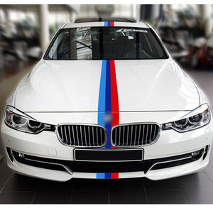 Image 5 - 1 Roll Car Sticker PVC Car The Whole Body Sticker Fire Flame Decor Vinyl Decals France Germany Italy Flag For BMW M Color
