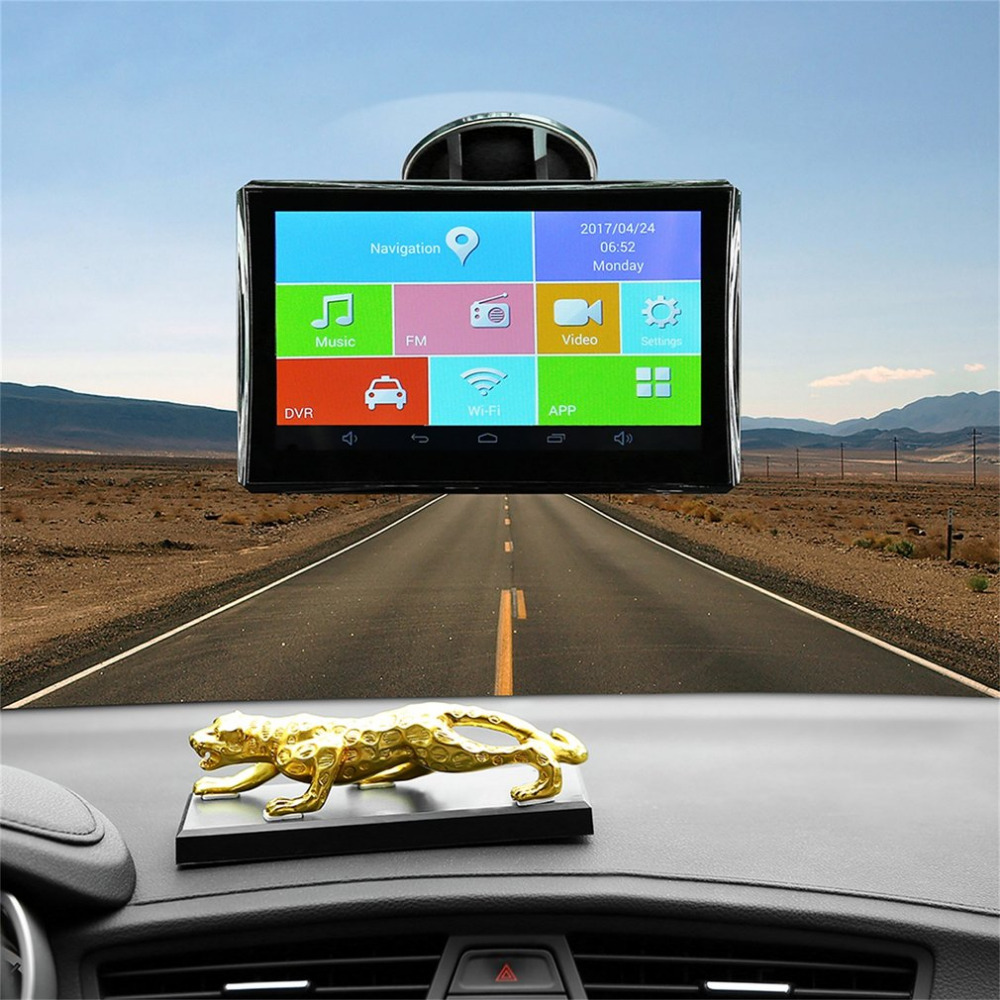 5 Inch HD 1080P Car GPS Pianet Navigation Vehicle Traveling Driving Data Recorder Smart Bluetooth WIFI 8G FM AV-IN Night Vision 7 inch car gps data recorder pianet navigation vehicle traveling smart for android bluetooth wifi support rear view camera hot