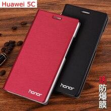 7 цвета оригинальный бренд флип кожаный case для huawei honor play 5c мобильного телефона мешок сумки карты держатель стоять обложка для huawei 5C