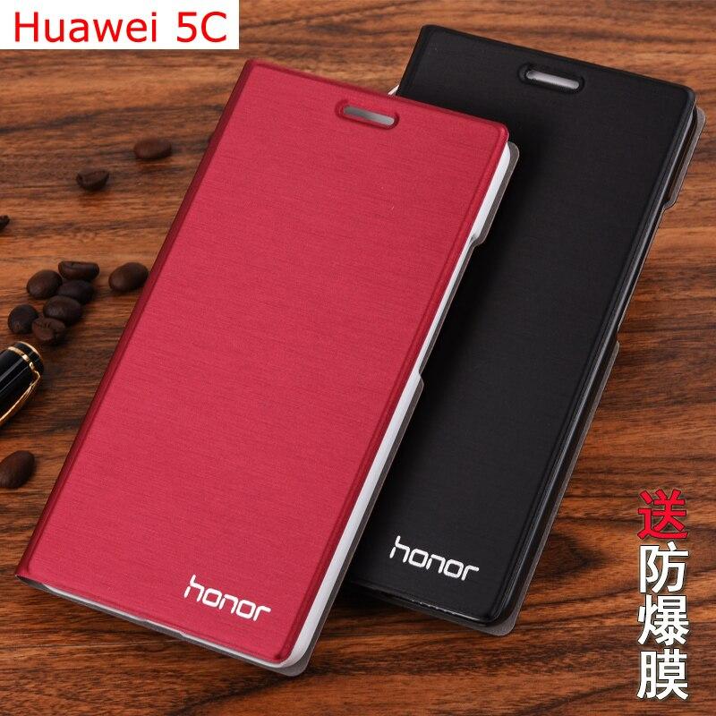 imágenes para 7 colores original de la marca case del cuero del tirón para huawei honor play 5c bolsas bolsa del teléfono móvil titular de la tarjeta soporte de la cubierta para huawei 5C