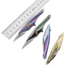 Petrified fish tactical pocket knife S35VN blade folding ball bearing tumbling titanium handle Open letter box tool