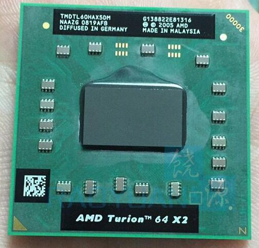 Amd cpu محمول توريون TL-60 TMDTL60HAX5DM cpu 1 متر مخبأ/2.0 جيجا هرتز/المقبس s1/ثنائي النواة معالج tl60 tl 60
