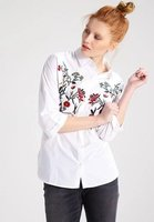 2017 Spring Summer White Shirts Women Europe Embroidery Floral Flowers Blusas Mujer Fashion Sexy Camisa Feminina
