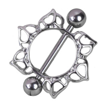 Flower Rhinestone Diamante Barbell Belly Button Nipple Ring Body Piercing