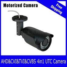 (ЧЕРНЫЙ) Совместимый AHD/TVI/CVI/CVBS DVR 1080 P/2-МЕГАПИКСЕЛЬНОЙ Камеры ВИДЕОНАБЛЮДЕНИЯ 4X Моторизованный объектив Массив СВЕТОДИОДНЫХ UTC Коаксиальный Управления OSD бесплатная доставка