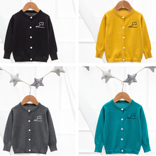 2019 Children Baby Sweaters Boys Back Letter Print Girls Spring Knitted Cardigan Casual Bebes Clothing 1-6Y