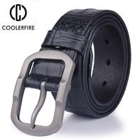 2017 Fashion Design For Men 100 Men S Genuine Leather Belt High Quality Buckle Famous Luxury