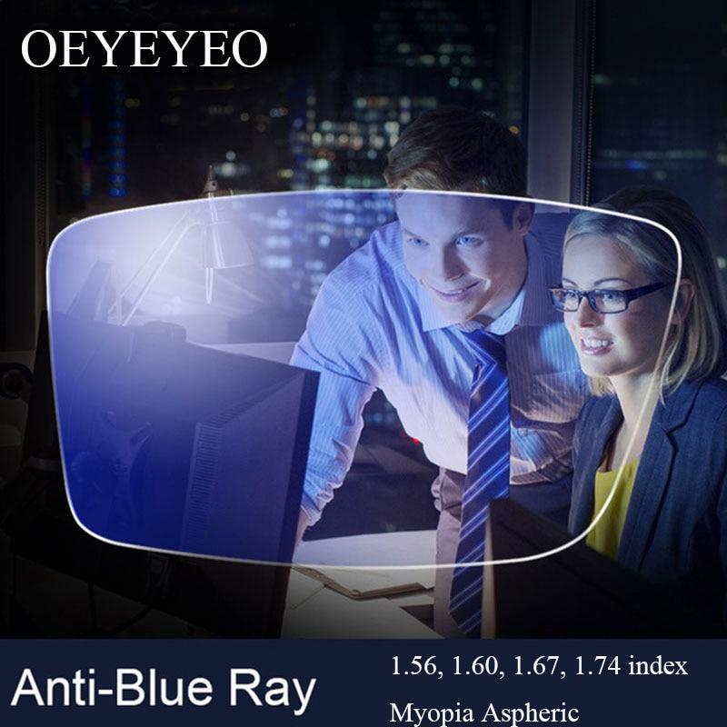 Anti-Blue Ray Lens Myopia Prescription Optical Lenses Glasses Lens For Eyes Protection Reading Eyewear lentes opticos