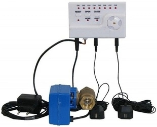 Russian Water Leakage Detection Alarm System With 3/4 Inch Motorized Ball Valve Auto Shut Off Crane And 4pcs Water Sensors