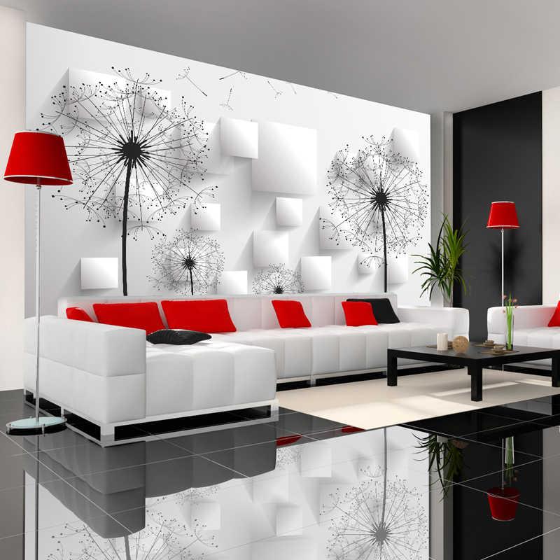 Пользовательские фото обои 3D стереоскопический Одуванчик настенная живопись спальня гостиная ТВ фон Настенная роспись обои домашний декор
