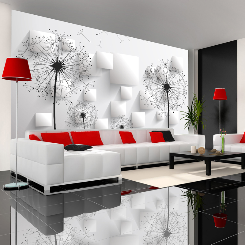 Aliexpress Buy Custom Photo Wallpaper 3D Stereoscopic Dandelion Wall Painting Bedroom Living Room TV Background Mural Home Decor From