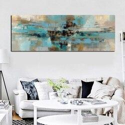 Hellblau Leinwand Malerei Poster Und Drucke Moderne Abstrakte Ölgemälde Wandkunst  Schlafzimmer Wohnzimmer Cuadros Decoracion Salon