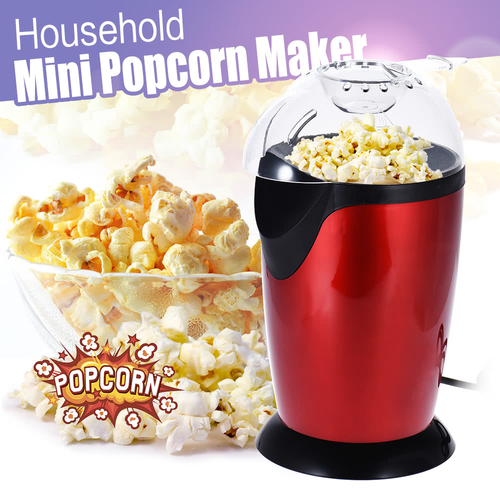 1200W Home Kitchen Household Healthy Hot Air Oil-free Mini Popcorn Making Machine Maker Corn Poping Popper 12000 lumens bike light 7x xm l t6 front bicycle light rechargeable cycling headlight mountain bike lamp with 18650 battery pack