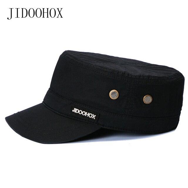 Transpirable sombrero del ejército moda ventilación sombra agujeros Sun  aventura sombrero bone BRIM algodón fino militar 3452c8b9fea