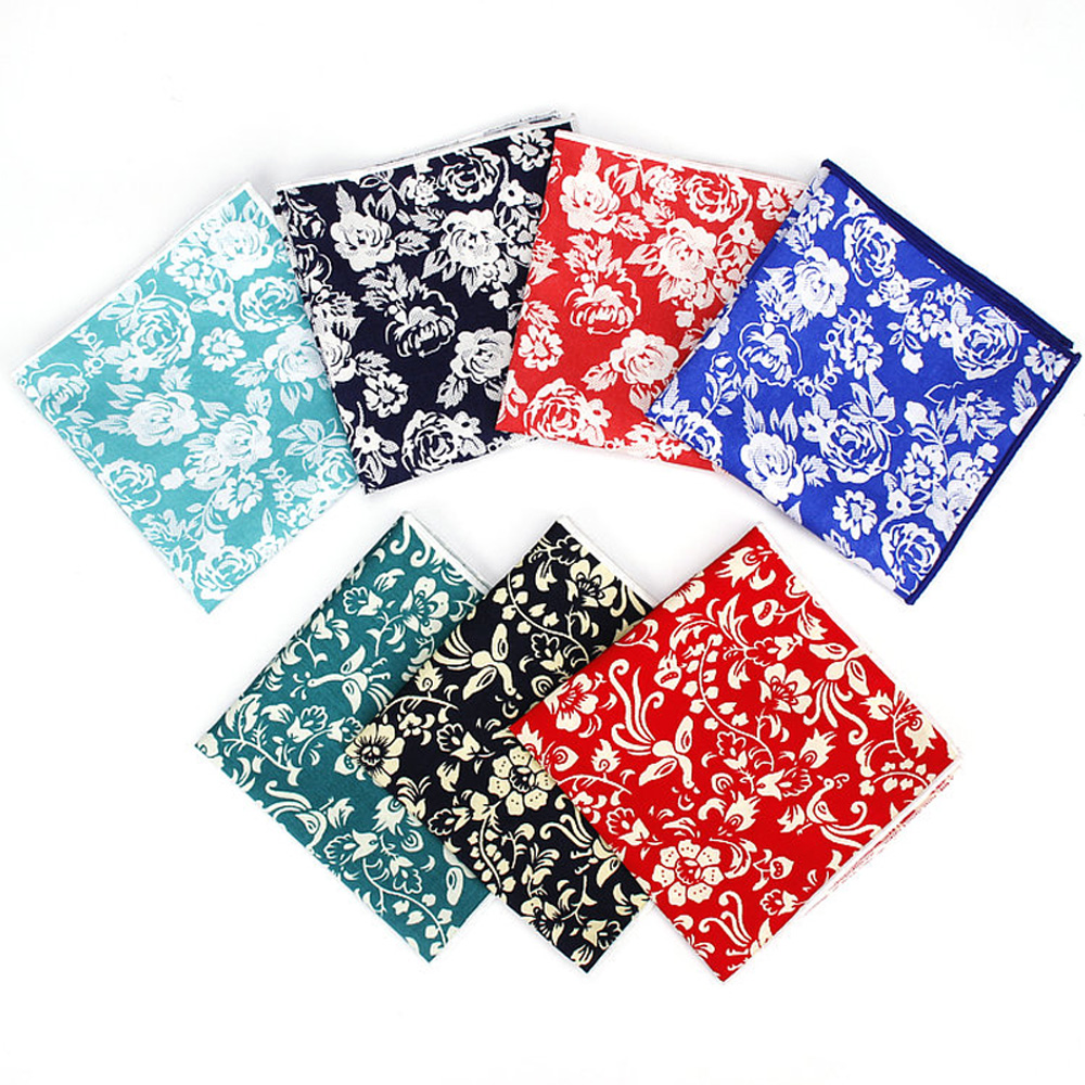 Mens New Stylish Floral Print Handkerchief Hanky Wedding Party Pocket Square BWTYF0229